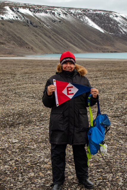 Kay Lee heads to the far north on Ellesmere Island to show her EYC pride