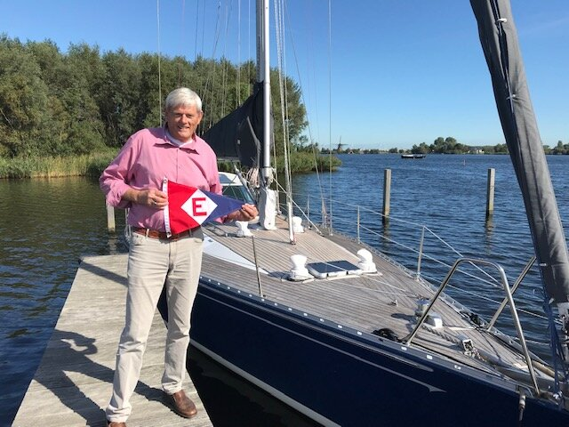 Evert at the Haarlem Jacht Club where he learned to sail