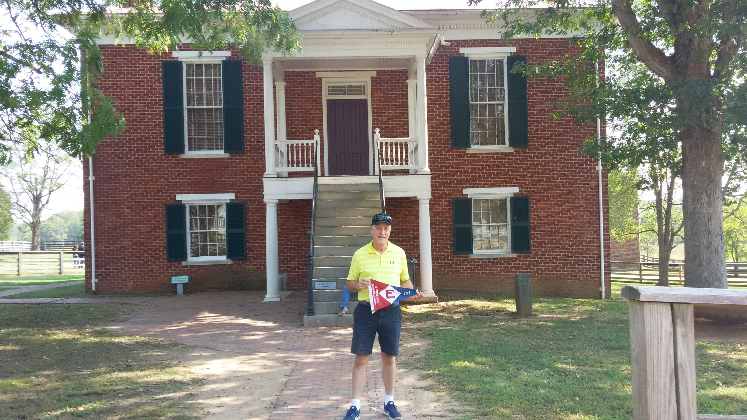 Paul shows his pride in front of the Appomattox Courthouse in Virginia