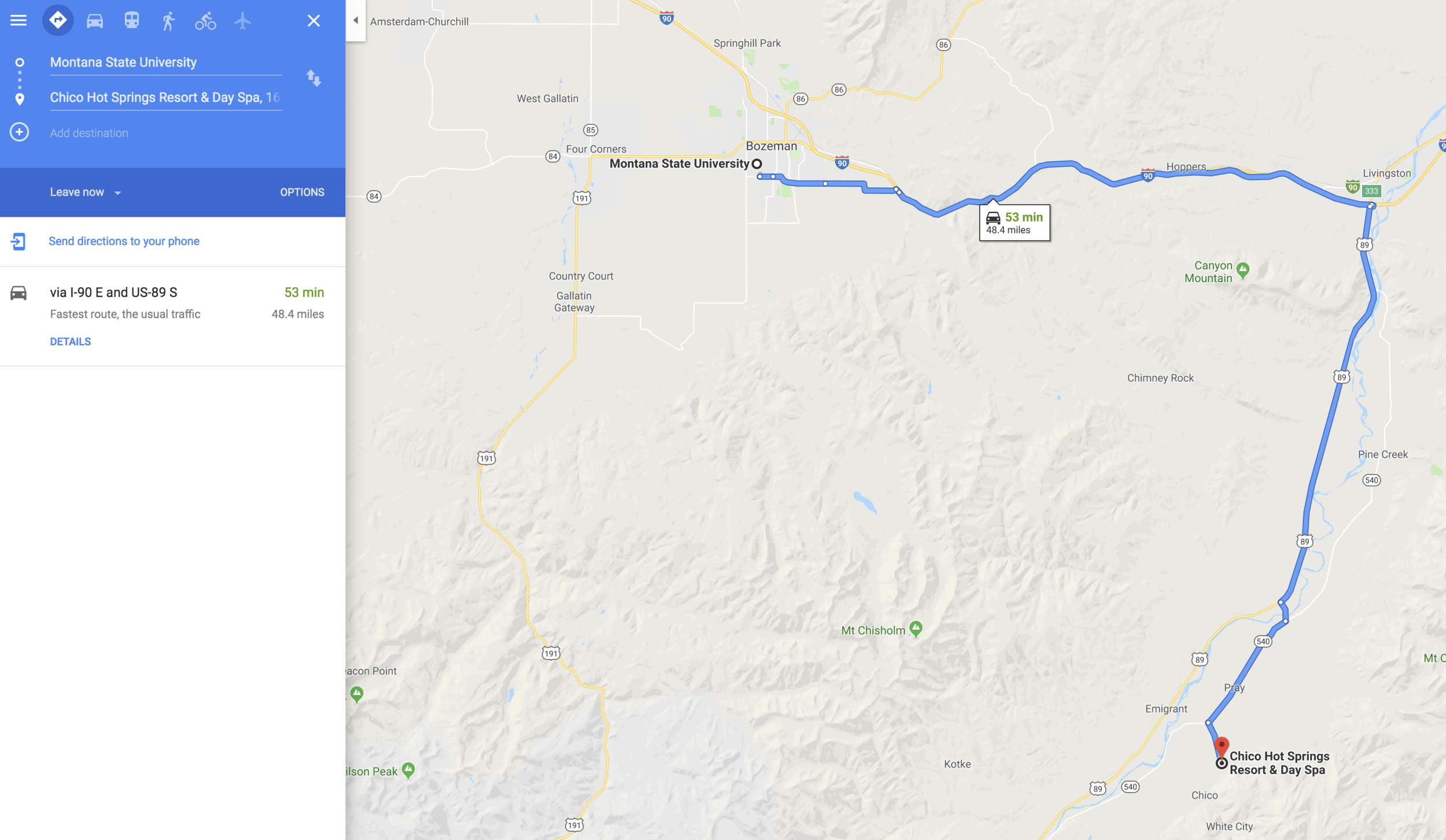 Map BZN to Chico.png