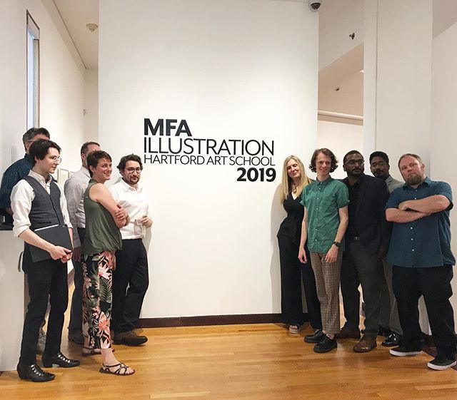 What an inspiring show, class of 2019! We'll miss you, your creativity, and your company. BUT we know we'll be seeing a lot more of your work. Bravo, master illustrators 👏🏼.