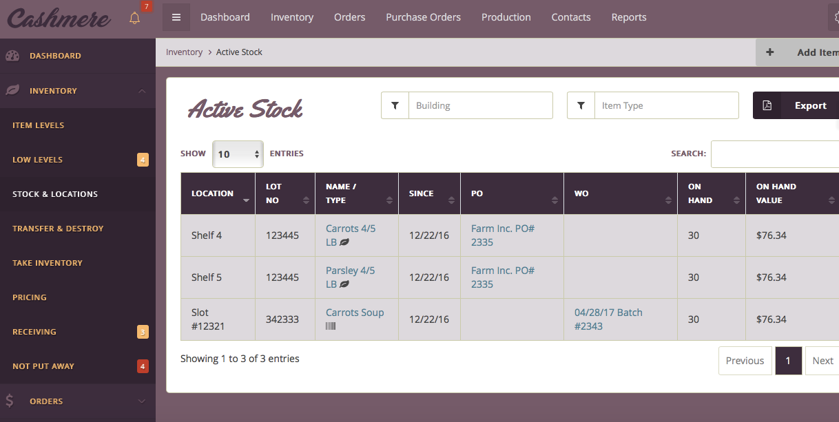 Inventory Management - Real-time Visilbility Of Your Stock...