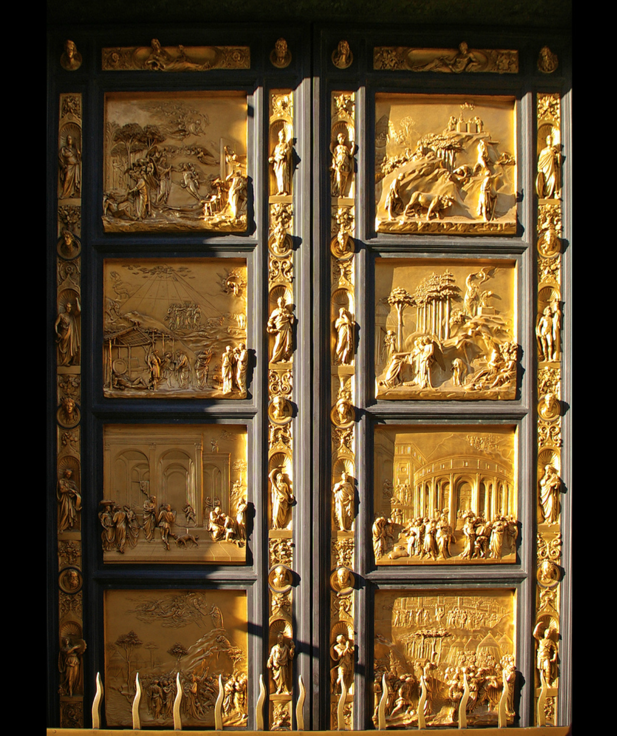 """""""Gates of Paradise,"""" the doors of the Florence Baptistry."""