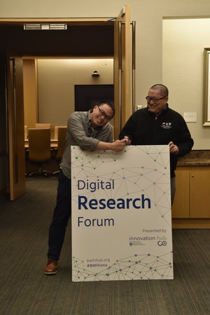 IOT in Health: Digital Research Forum   To kick off the 2018 series, Mark Zhang, DO, and Peter Chai, MD, both leaders in the digital health space, discussed their Internet of Things (IoT) project to deploy Amazon Dash buttons at the Brigham for facilities requests.