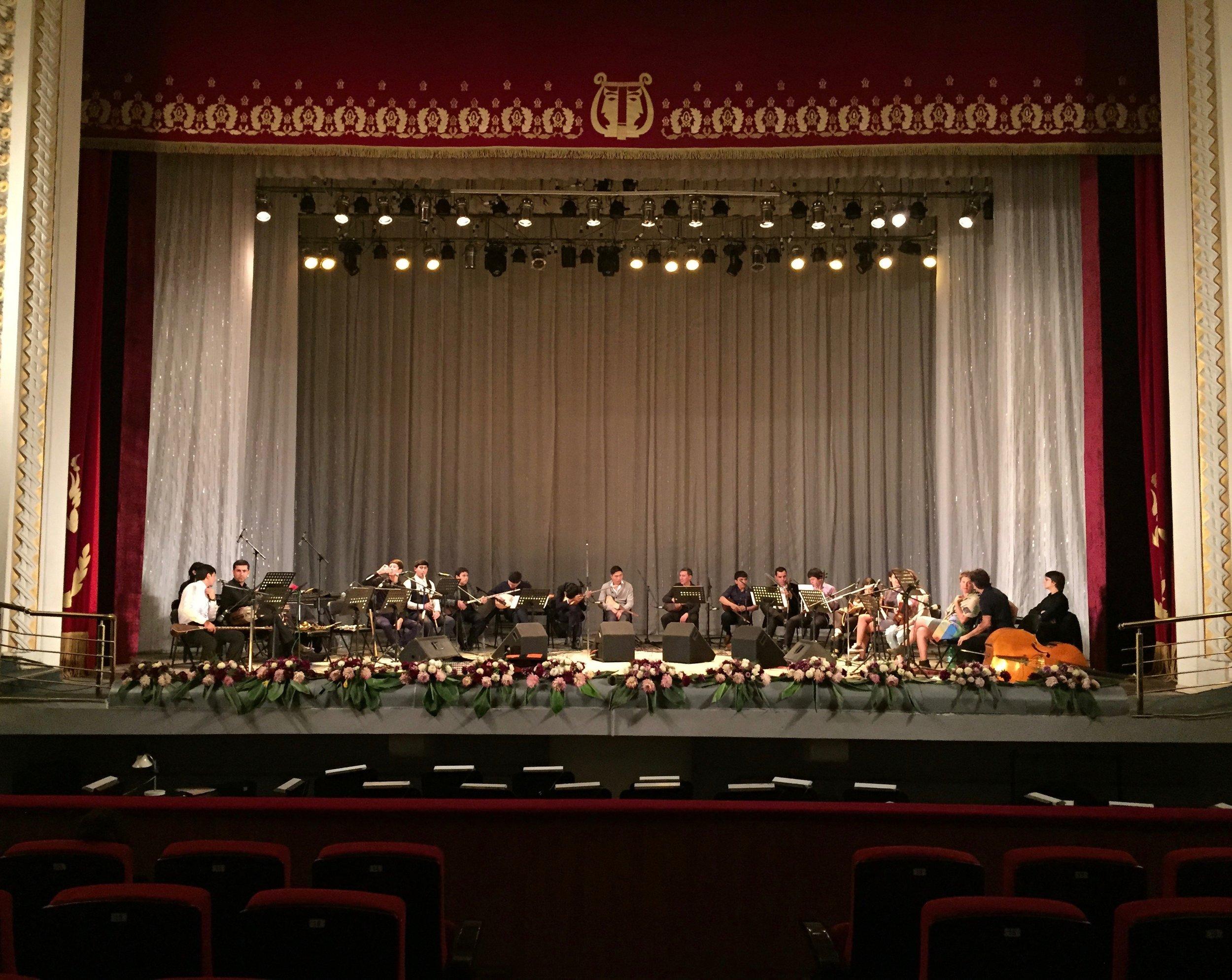 Soundcheck in Dushanbe, Tajikistan