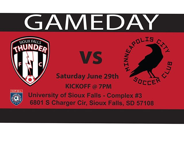 Exciting giveaways to one lucky kiddo! We are taking on @mplscitysc at 7pm today USFSports Complex⚽️ @npslsoccer @npsl_north We will be drawing a winner to receive 2 MLS Minnesota United tickets for the game on Sunday aug 4,2019 3:00pm along with a hotel stay for Saturday night prior! Also there will be Soccer balls and INCA Salsa handed out the beginning of the game!