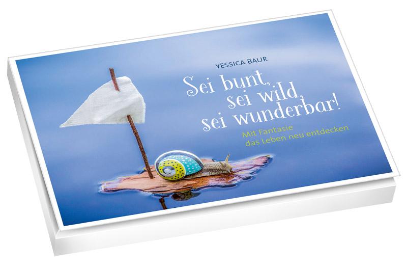 Sei bunt, sei wild, sei wunderbar - Postkartenbuch  Bestellung über den adeo-Verlag.