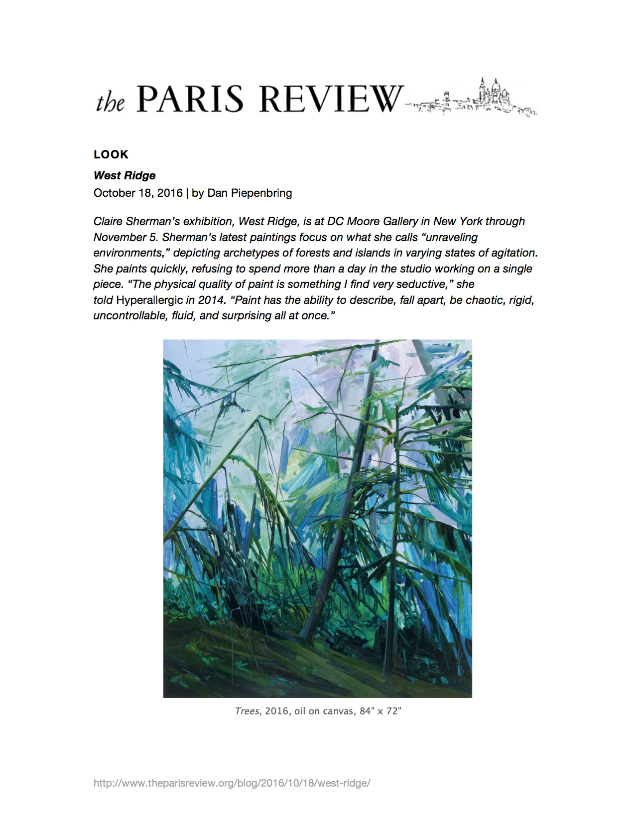 The Paris Review, October 2016