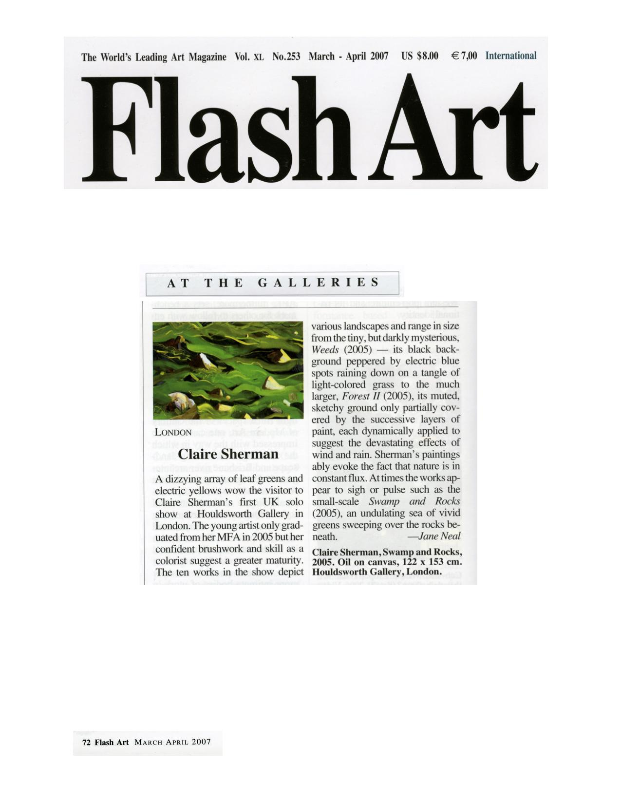 Flash Art, March/April 2007
