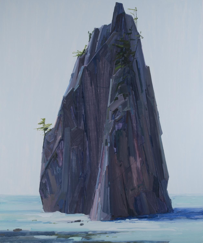 """Island , 2016, Oil on canvas, 102 x 84"""""""