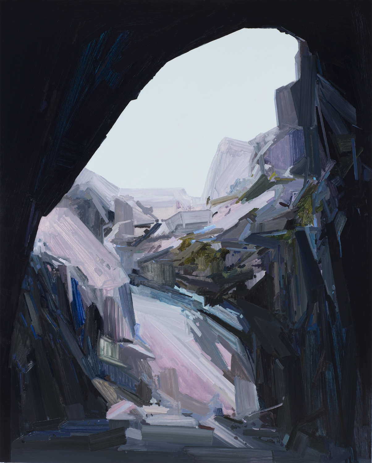 """Cave , 2015, Oil on canvas, 96 x 78"""""""