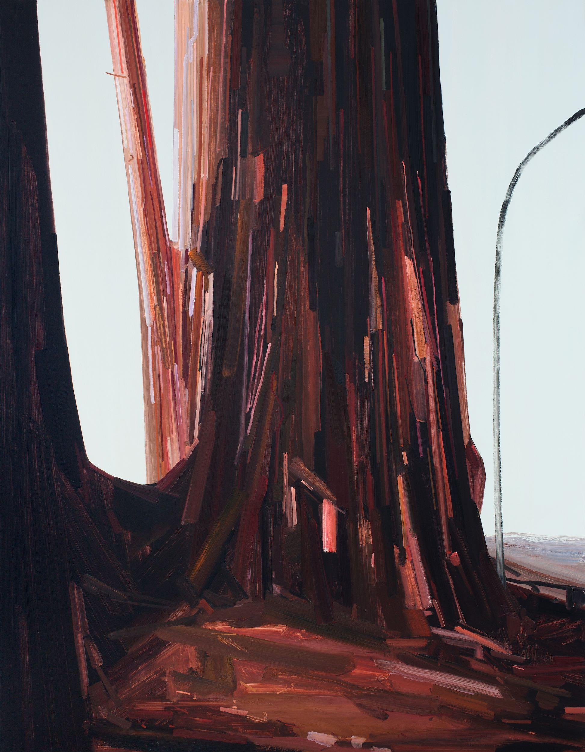 "Tree , 2014, Oil on canvas, 108 x 84"""