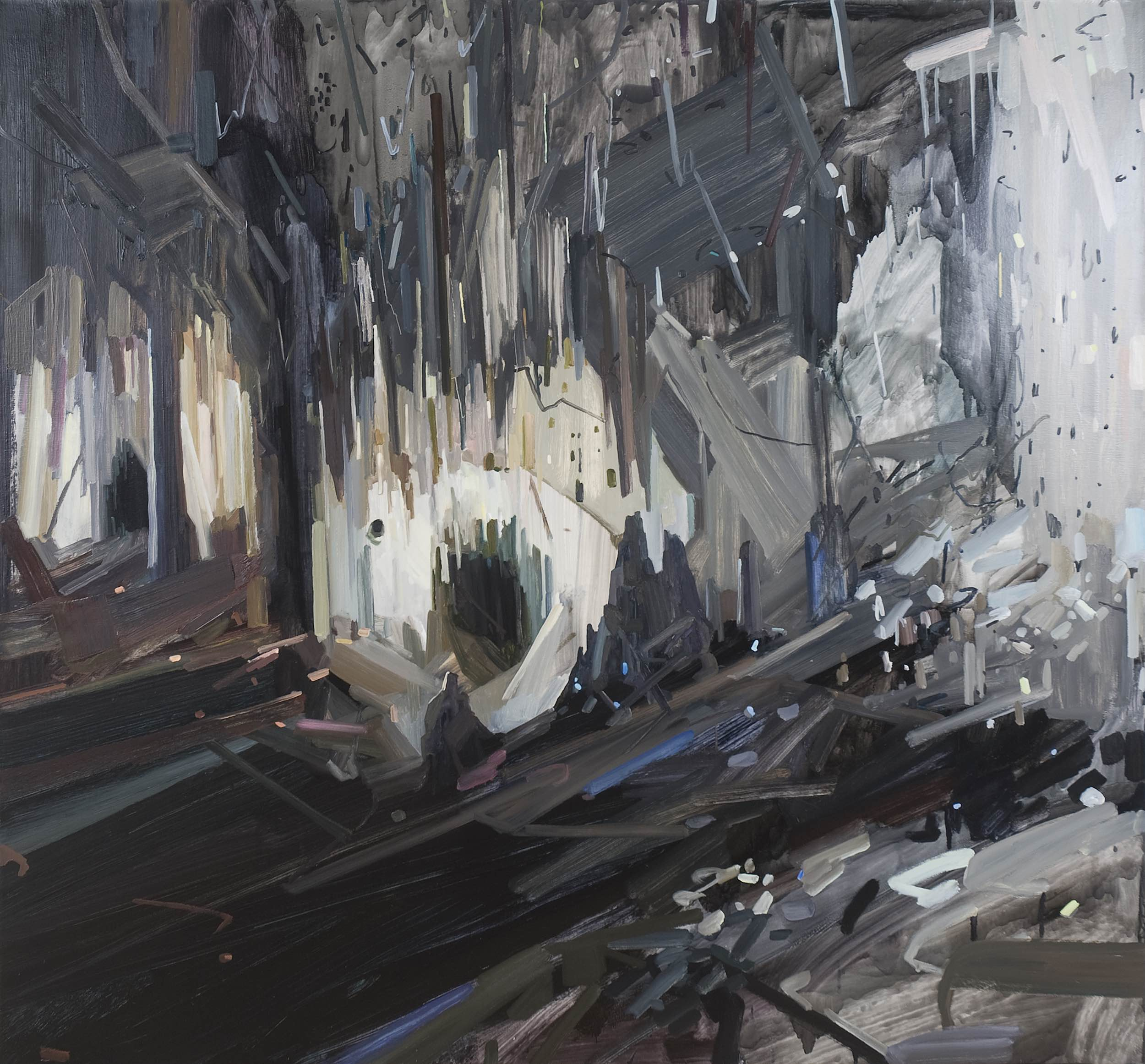 """Cave , 2011, Oil on canvas, 78 x 84"""""""