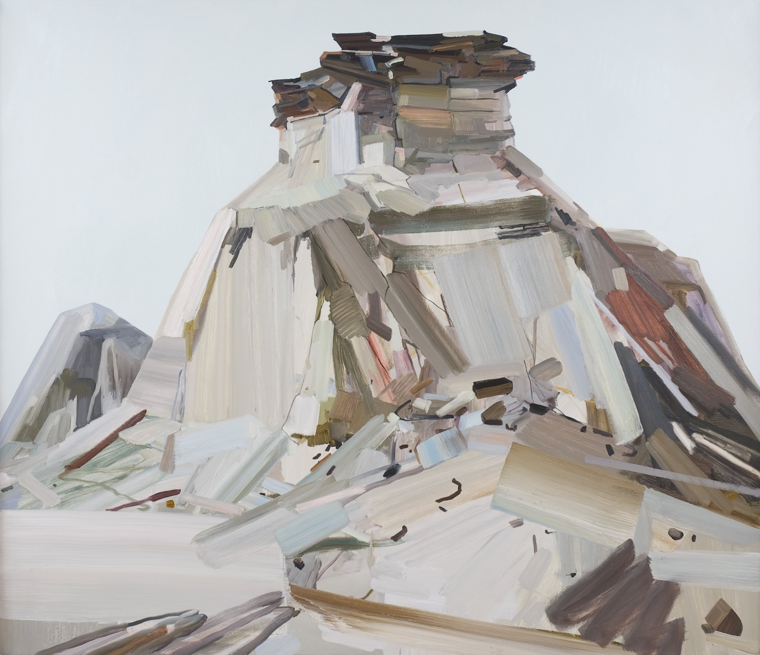 """Butte , 2011, Oil on canvas, 72 x 84"""""""