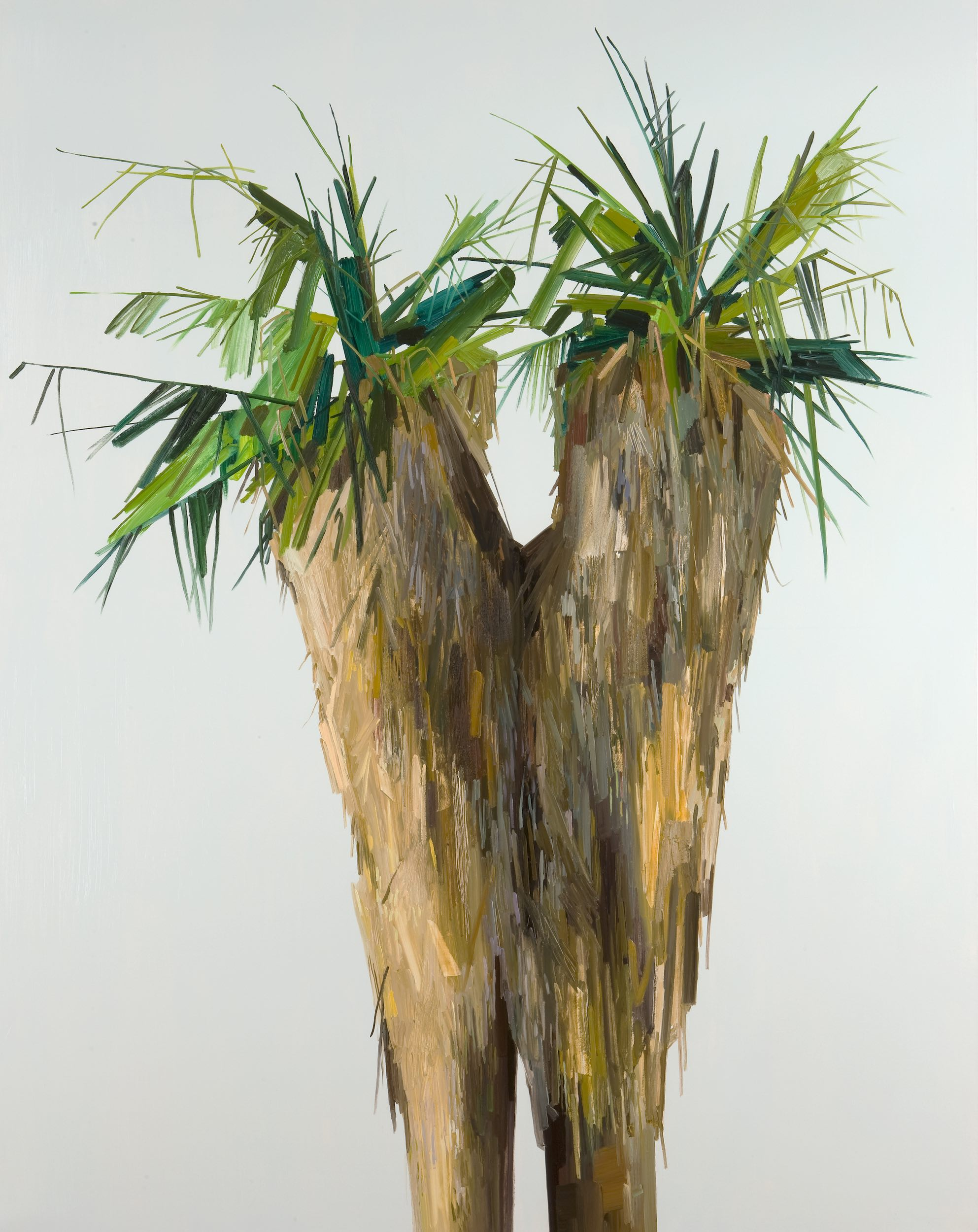 """Palm Trees , 2010, Oil on canvas, 108 x 84"""""""