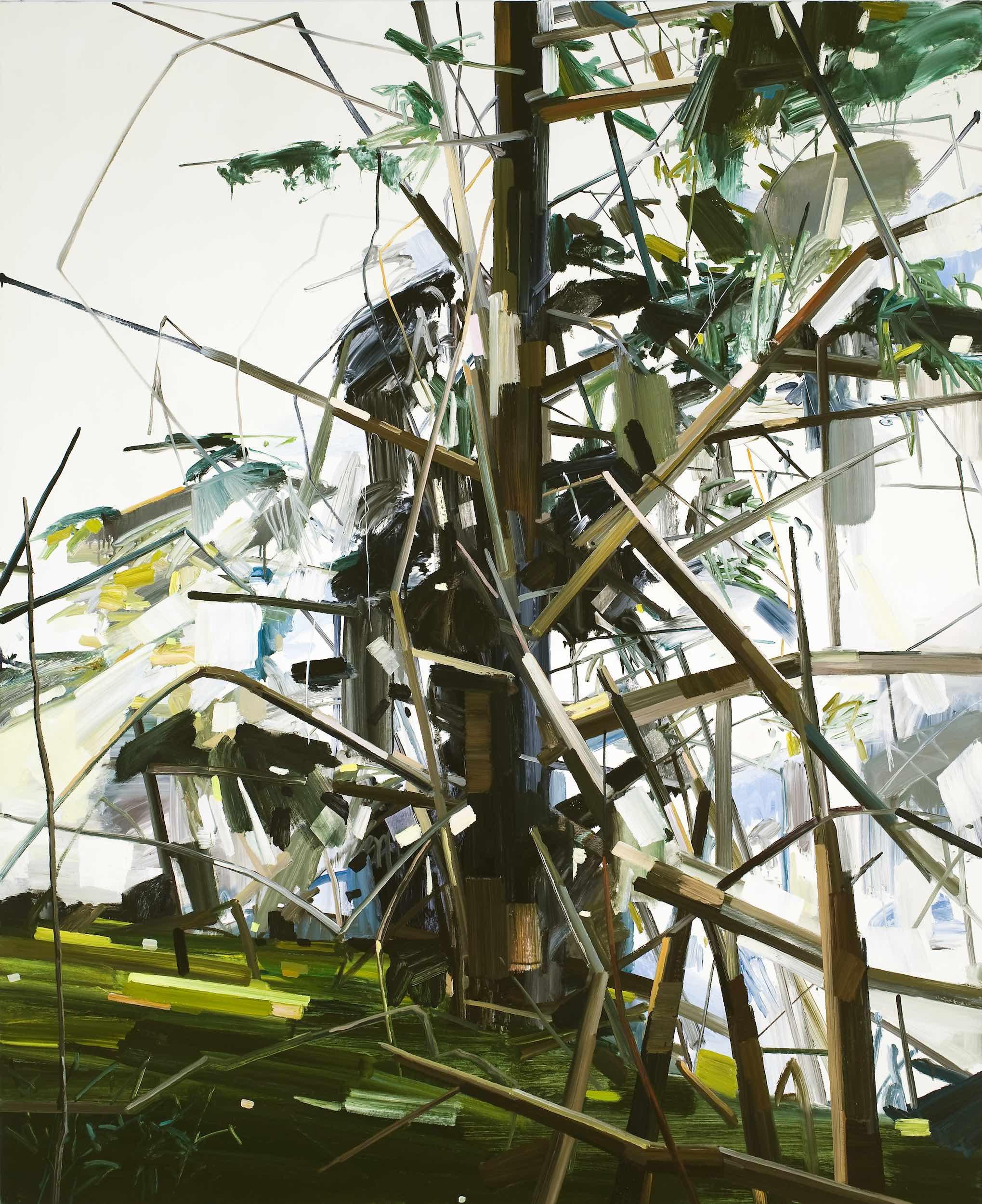 "Tree , 2010, Oil on canvas, 96 x 78"""