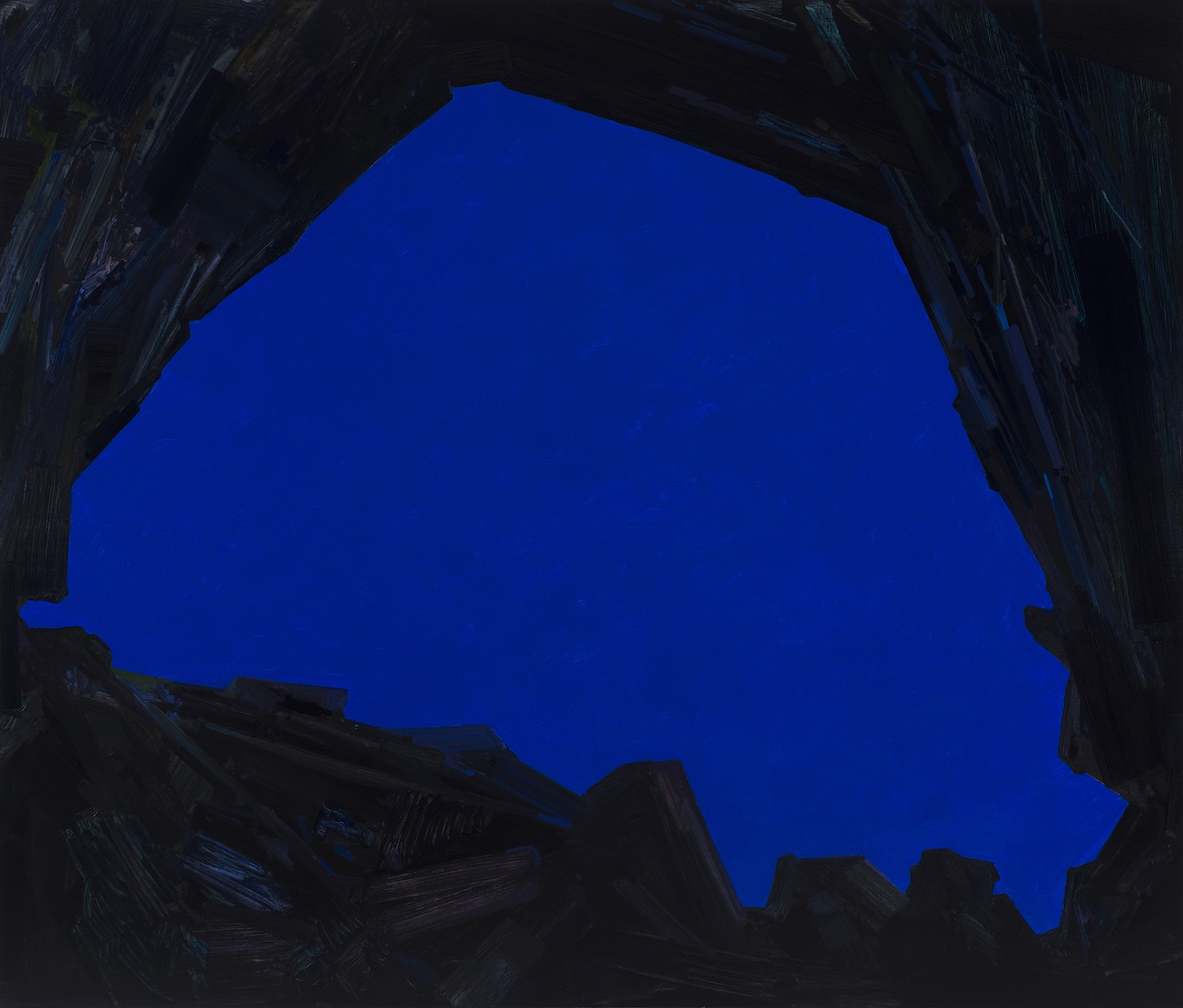 """Cave and Sky , 2015, Oil on canvas, 72 x 84"""""""