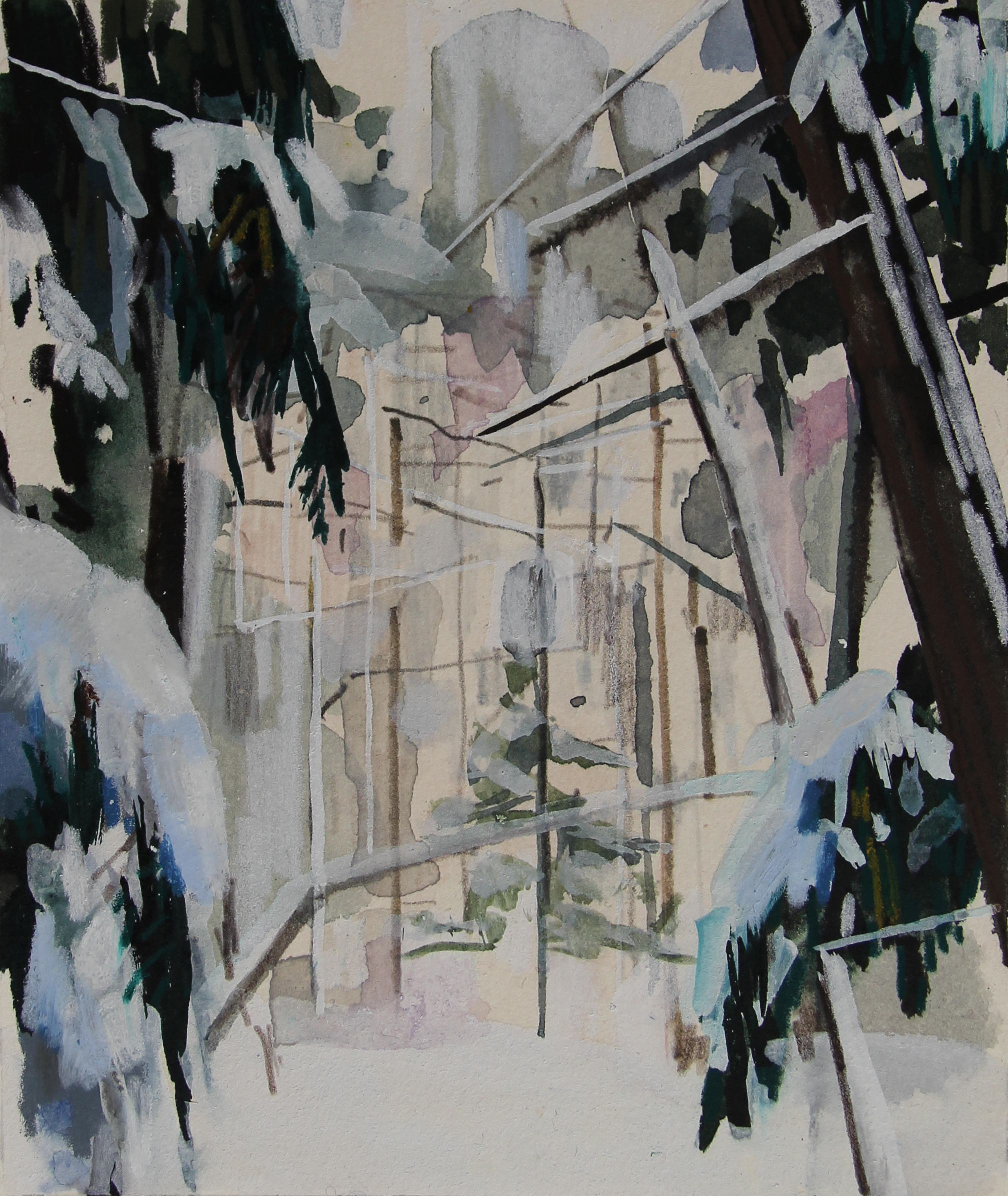 Snow and Trees, 2009