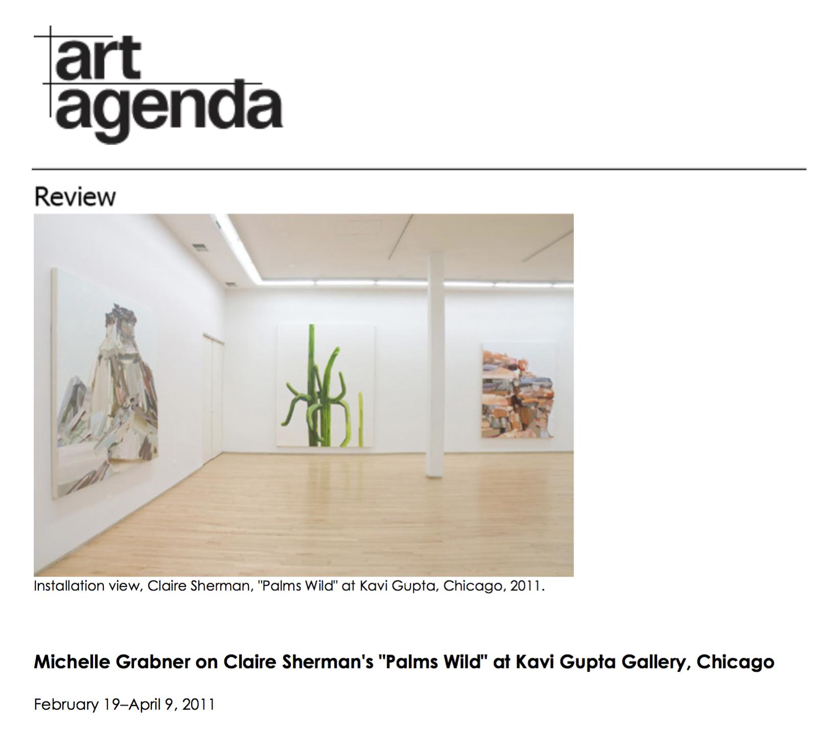 Art Agenda, April 2011