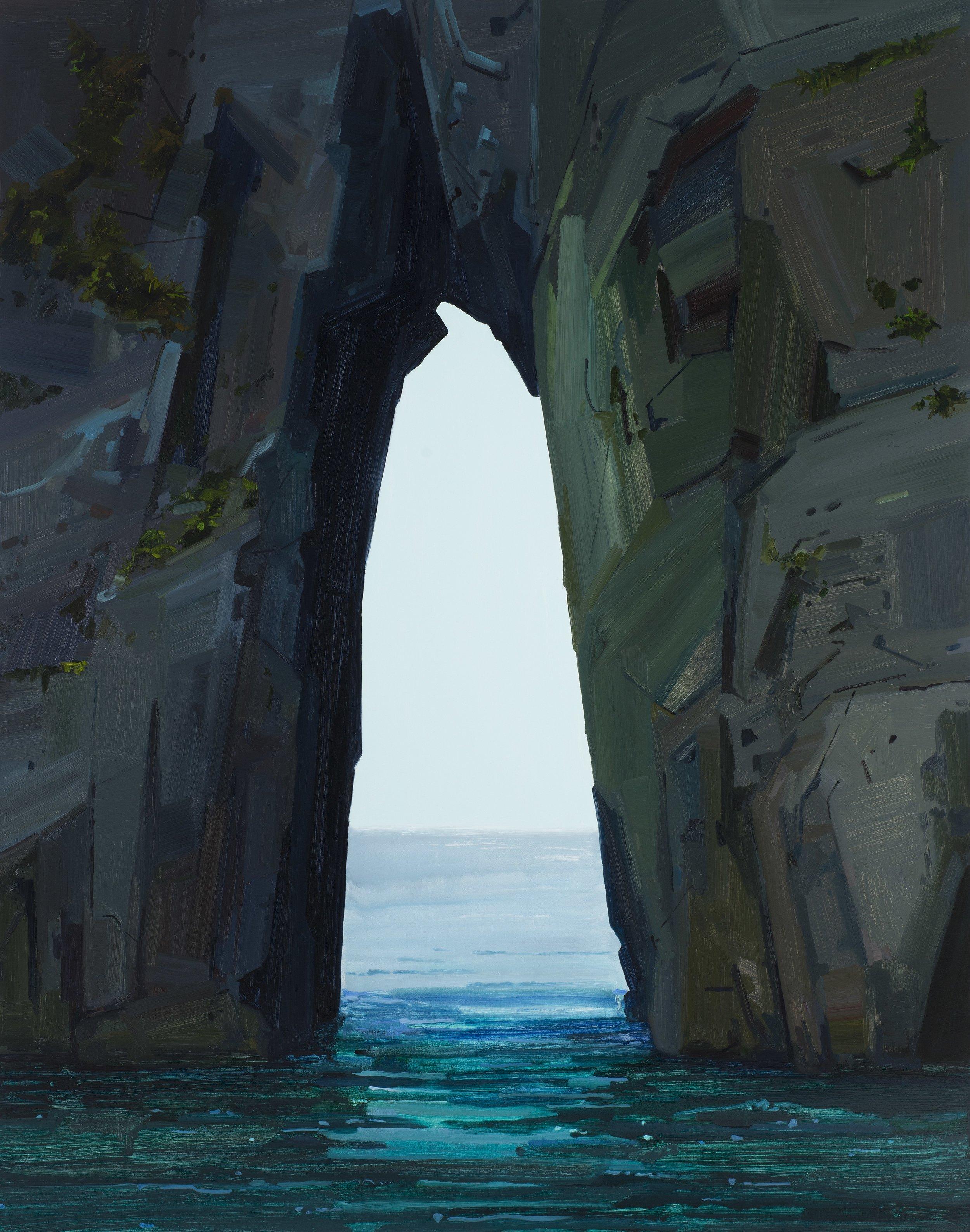 "Sea Cave , 2017, Oil on canvas, 84 x 66"""