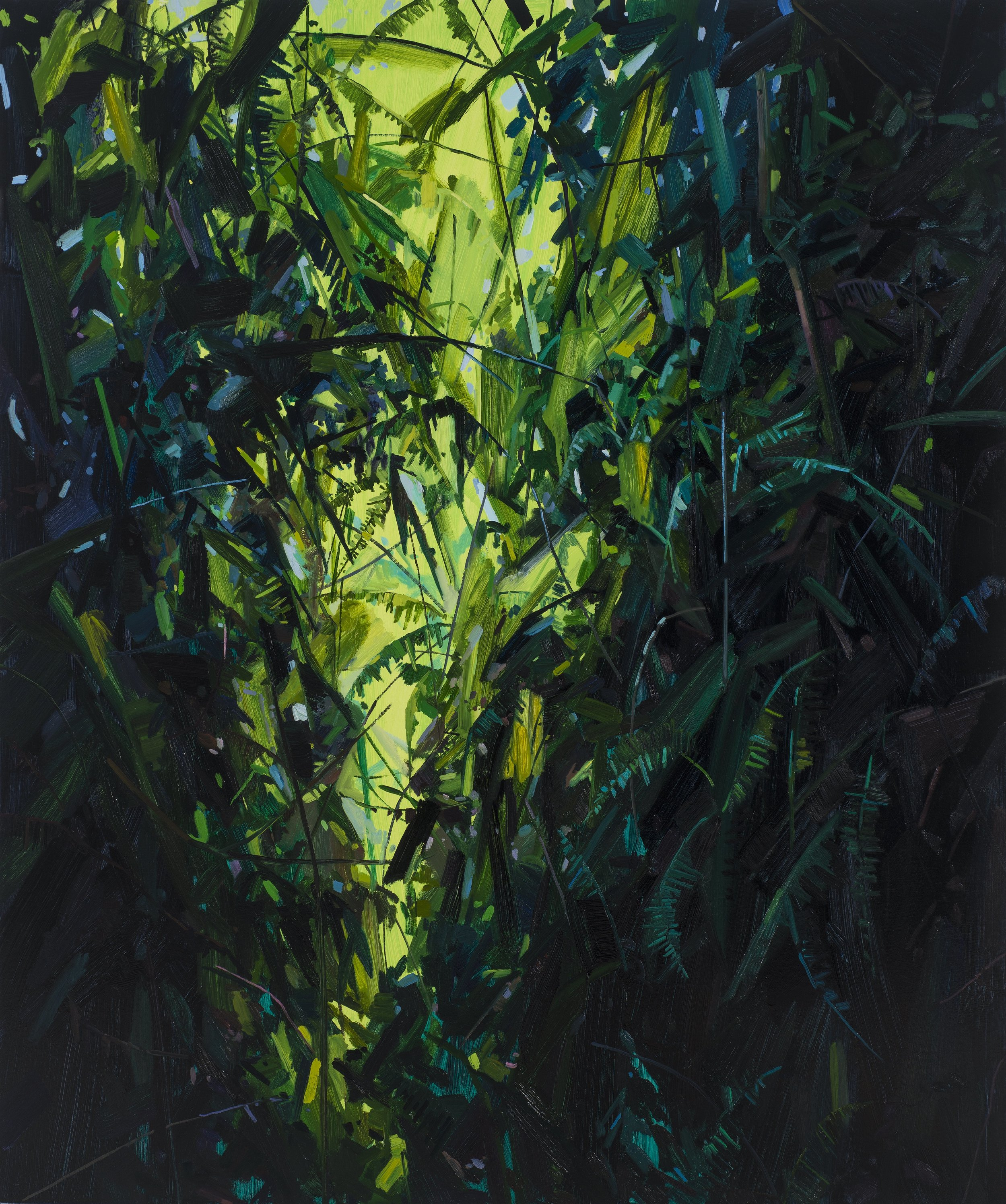 """Leaves and Vines , 2017, Oil on canvas, 72 x 60"""""""