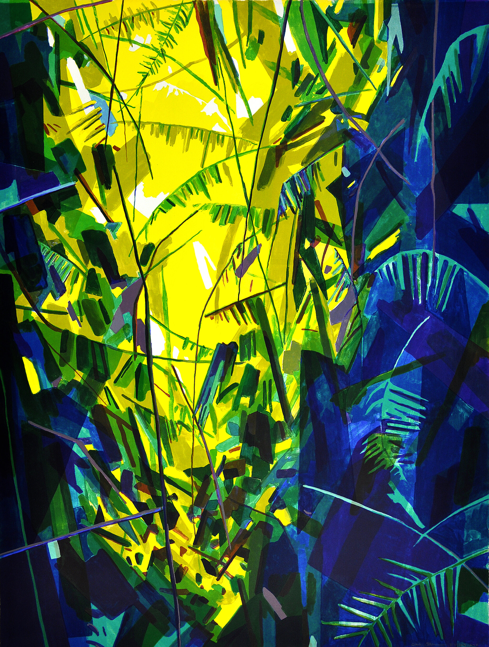 """Leaves and Vines, 2019, Color Lithograph, Ed.30, 40x30"""""""