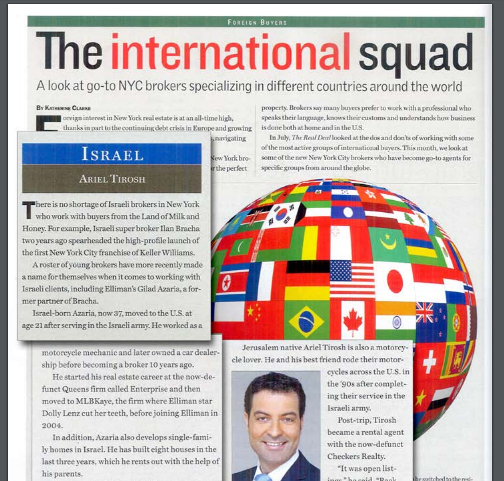 THE INTERNATIONAL SQUAD-A LOOK AT GO-TO NYC BROKERS SPECIALIZING IN DIFFERENT COUNTRIES AROUND THE WORLD