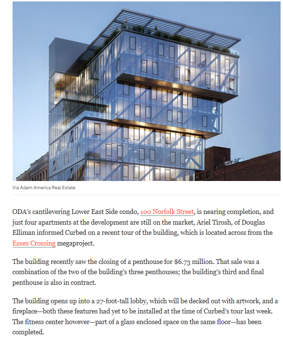 Touring Lower East Side's ODA-designed cantilevered condo