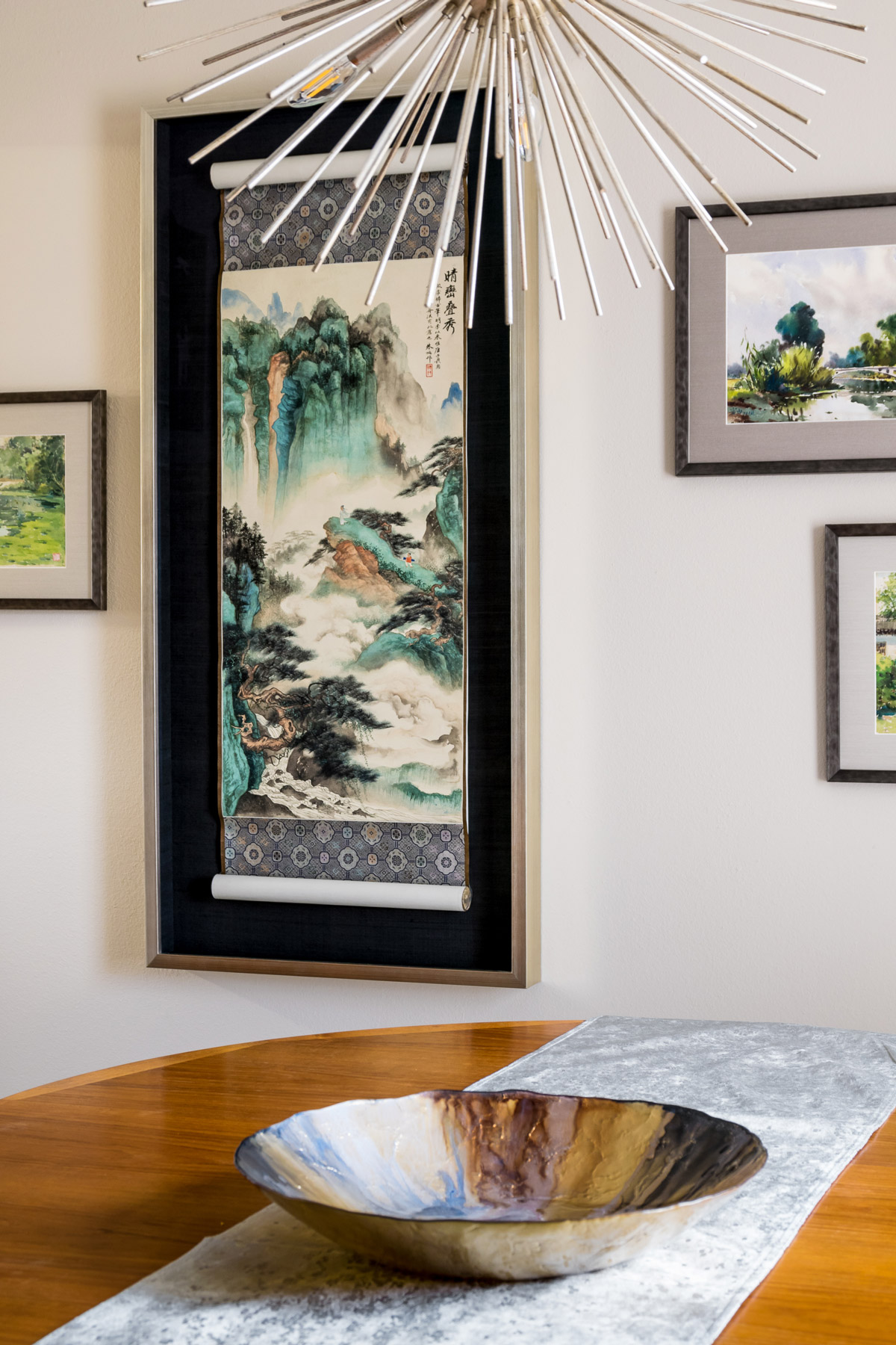 Tall Japanese Watercolor Painting