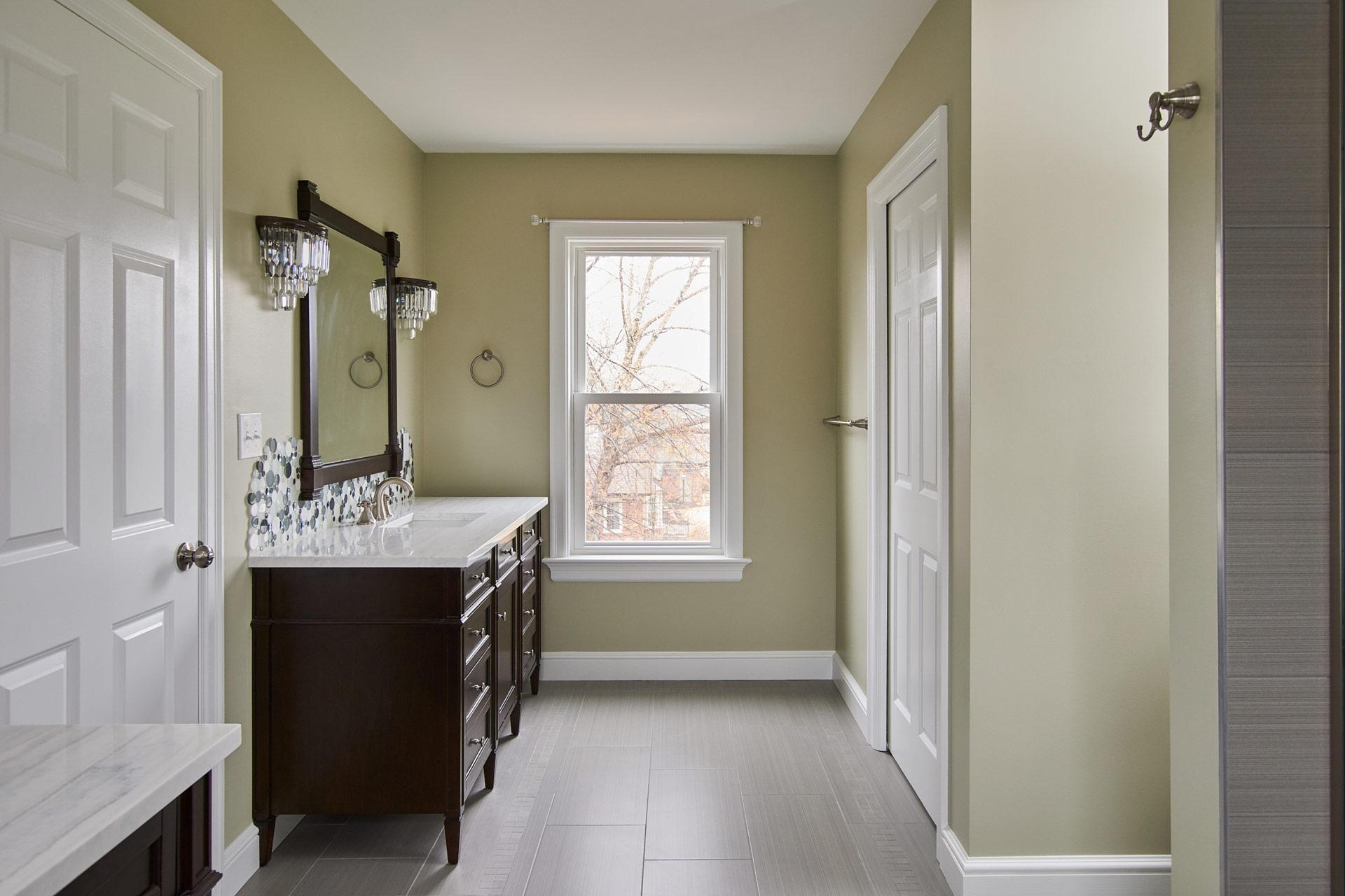 Vanity with Bright Window