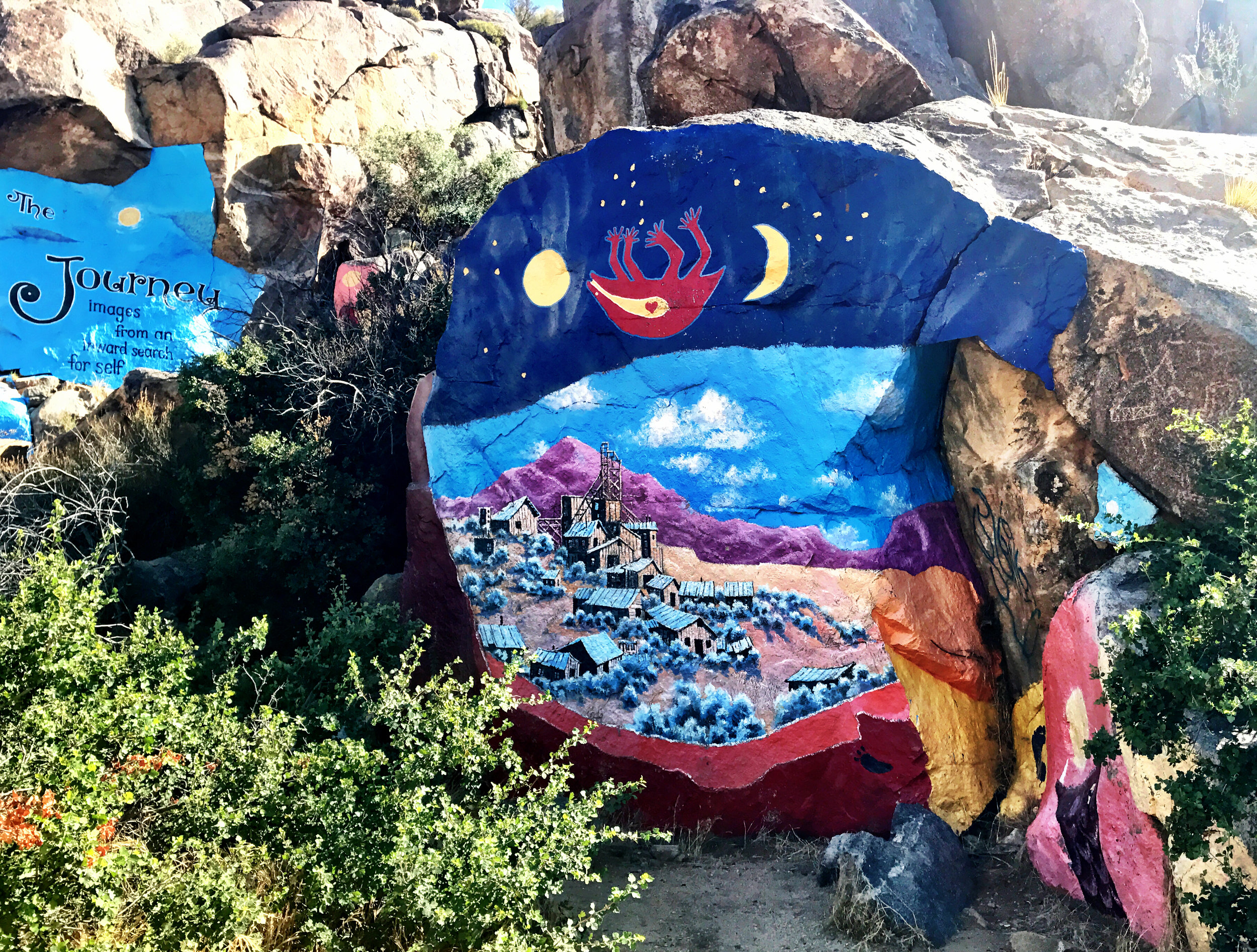 Murals in Chloride, Arizona