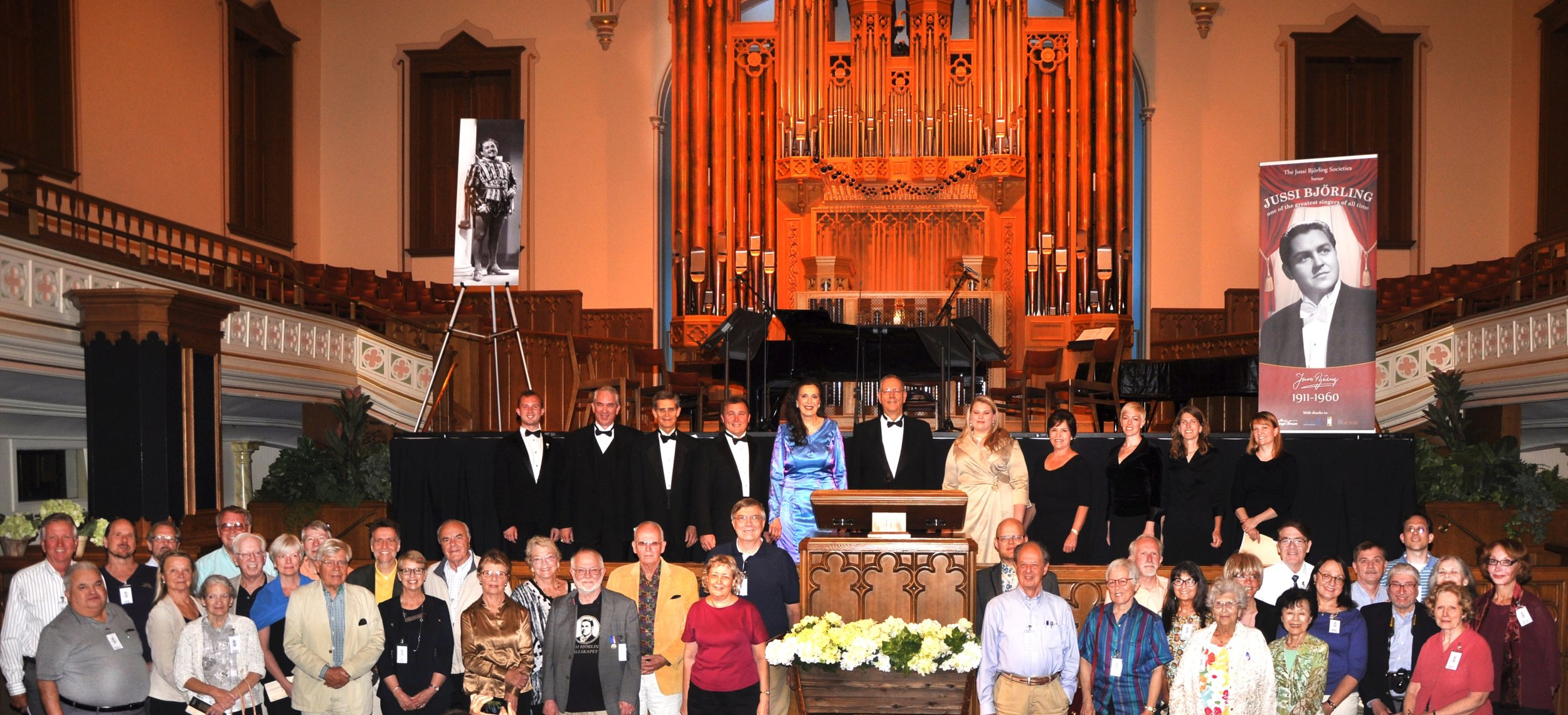 Members of JBS-USA at a special concert in the Temple Square Assembly Hall