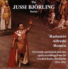 BJÖRLING AS RADAMÈS - ALFREDO - ROMÉO   General Price: $20 Members Price: $15