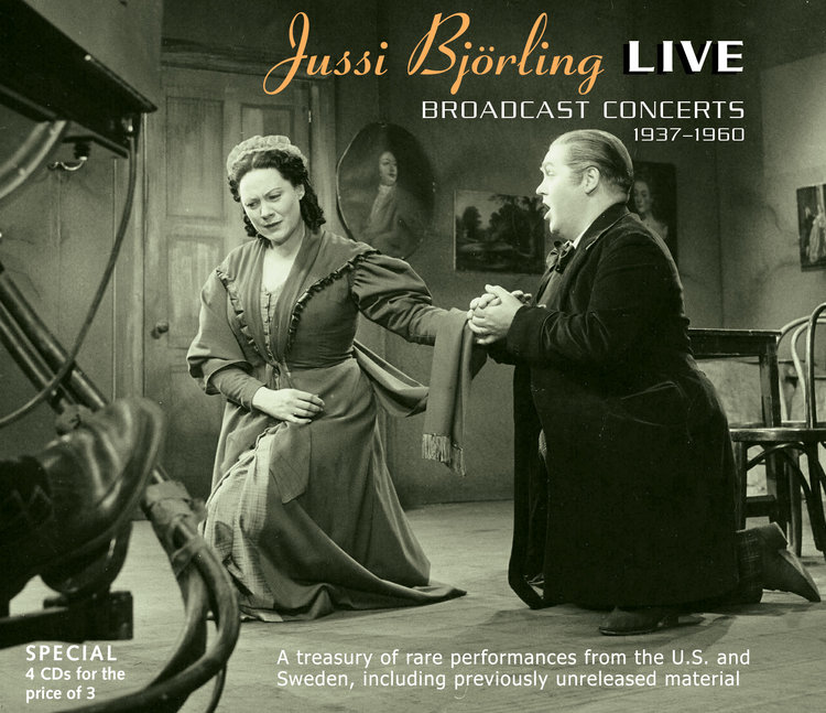 JUSSI BJÖRLING LIVE    (Broadcast Concerts 1937-1960)   General Price:   $35 Members Price: $30