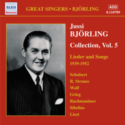 JUSSI BJÖRLING COLLECTION, VOL. 5 Lieder and Songs   SOLD OUT