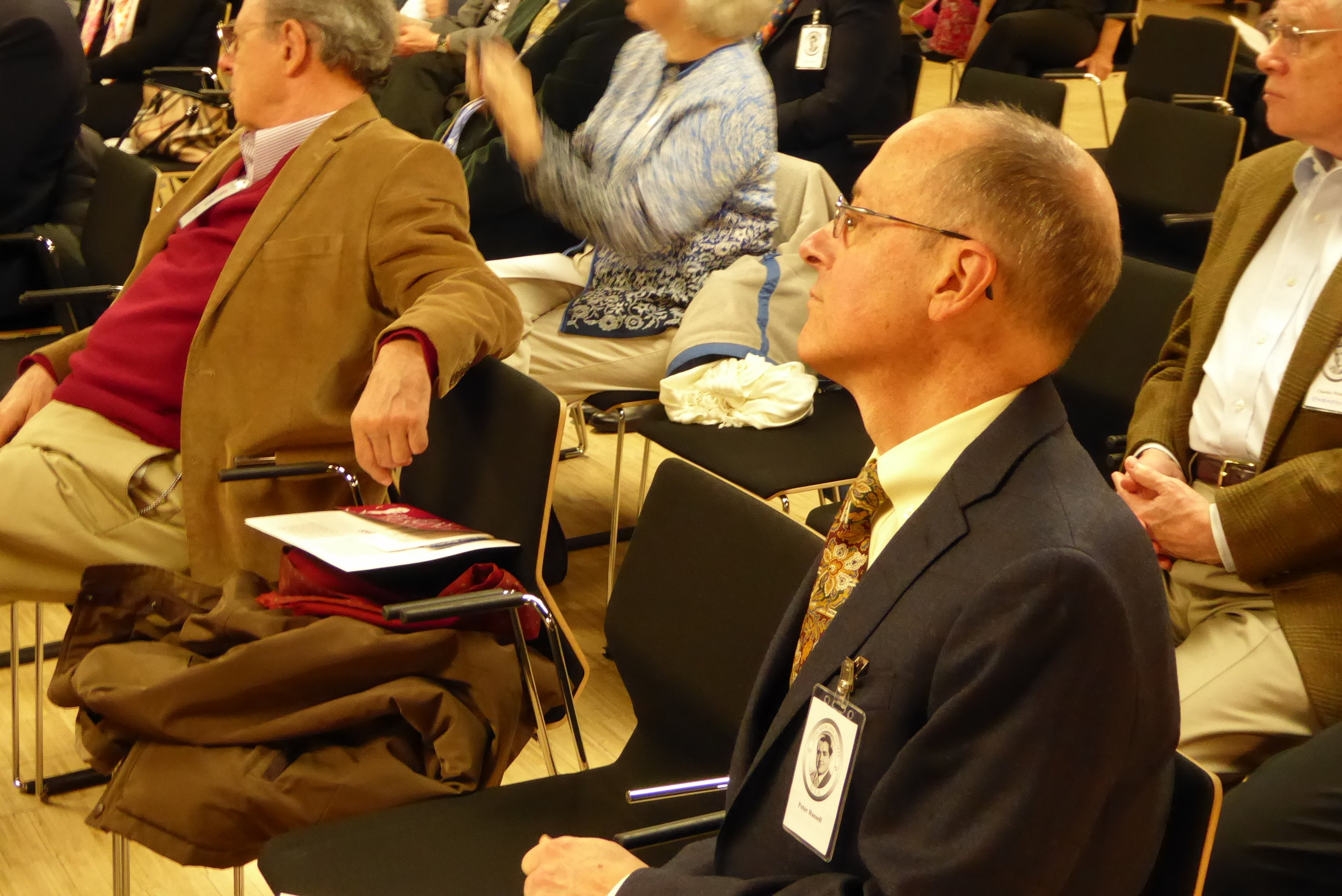 Peter Russell enjoying the conference in the House of Sweden Events Center.