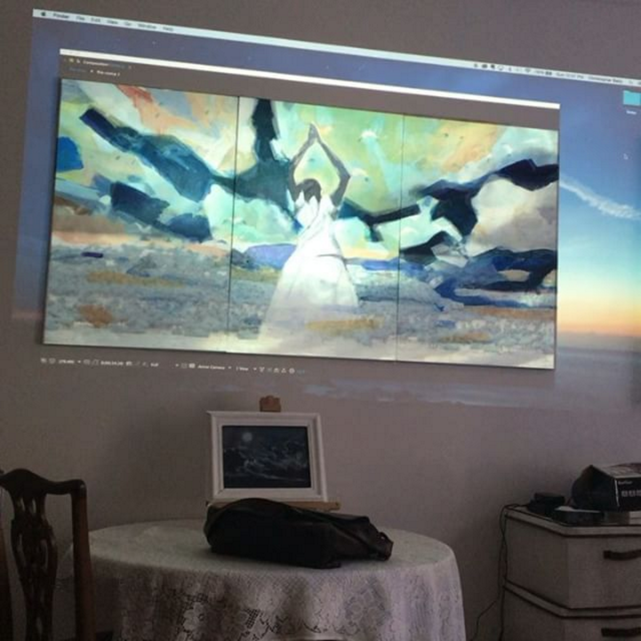Re-work Painting and Video Simultaneously