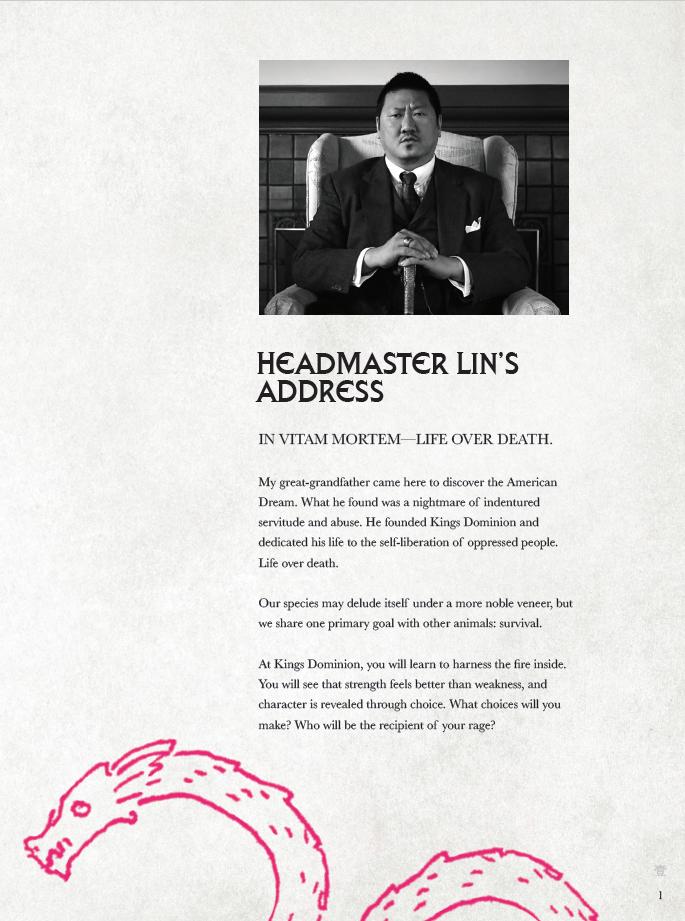 The Headmaster's Address.