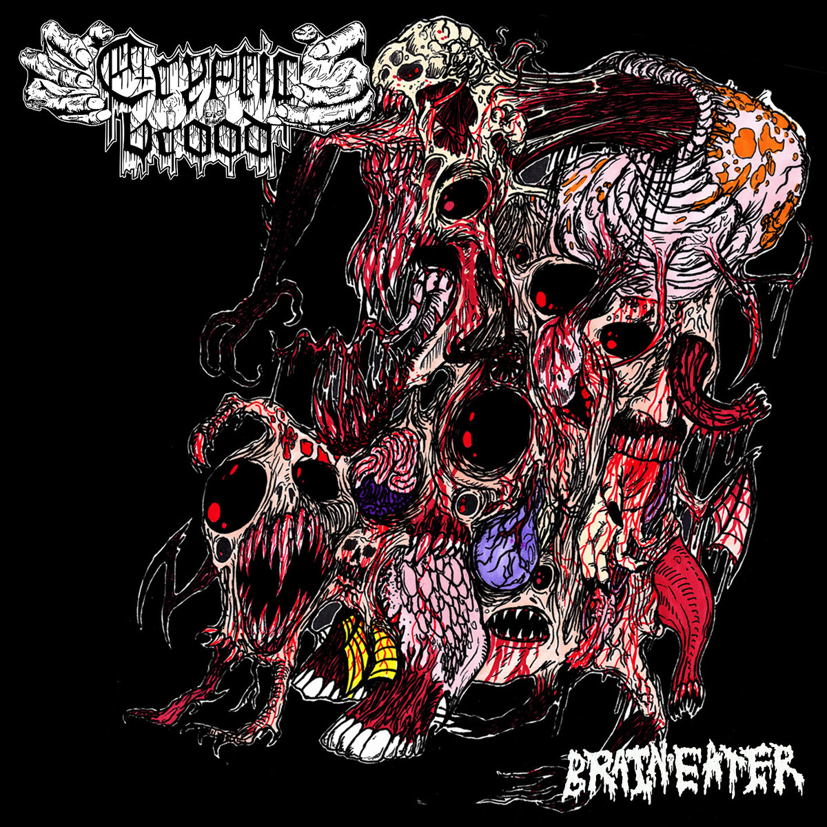 Genre: Death DoomBand: Cryptic BroodAlbum: Brain EaterCountry: GermanyRelease Date: March 1, 2017Label: Xtreem Music -