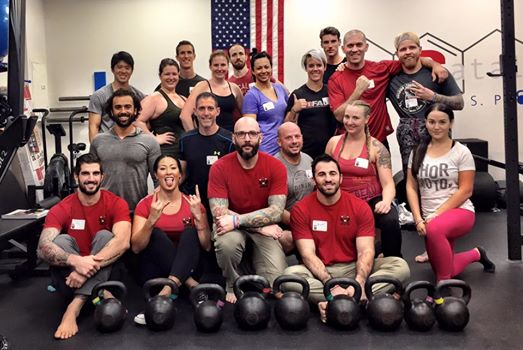 The mighty crew of the RKC Level 1 at Catalyst SPORT.