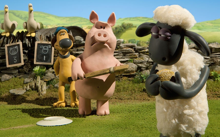 When the ham does battle with the lamb, things might get chippy on Easter Sunday. Image from Shaun the Sheep