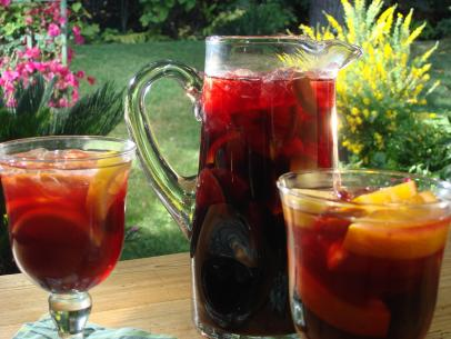 "Sangria: a refreshing ""patio pounder"" of a drink that you need this summer. Image credit: Food Network"