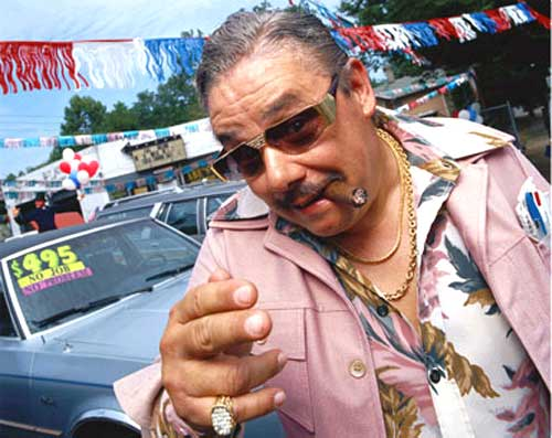 Al Barino, used car salesman.