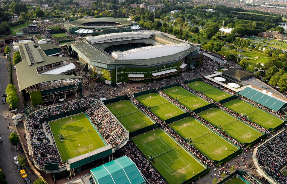 Aerial view at Wimbledon