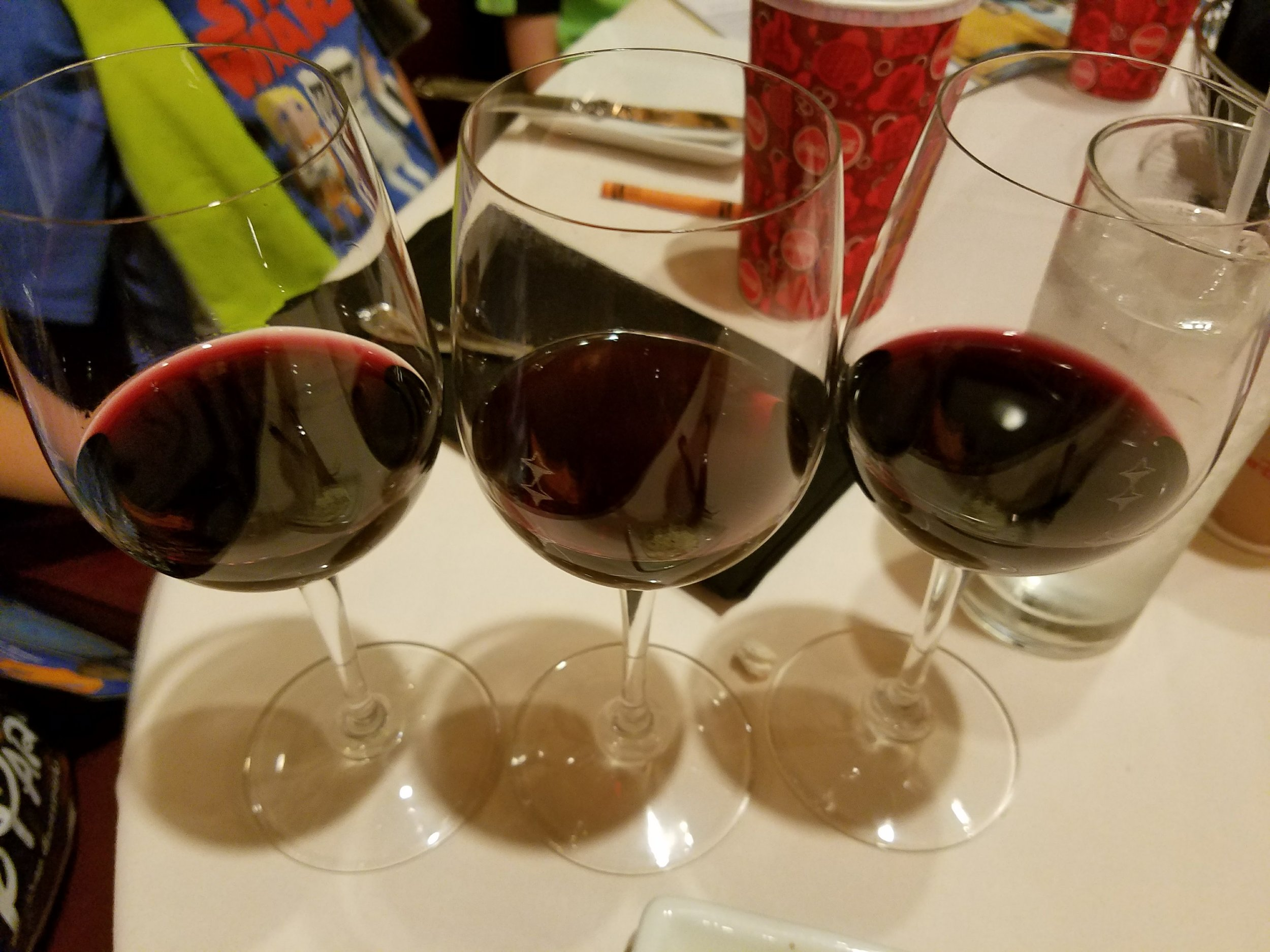 The Belle of Hollywood Pinot Noir flight. From left to right: Belle Glos Las Alturas Vineyard, Skywalker, and Belle Glos Dairyman Vineyard.