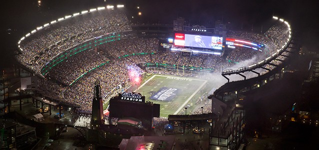 Gillette Stadium: the site where the opening conflict gets resolved.