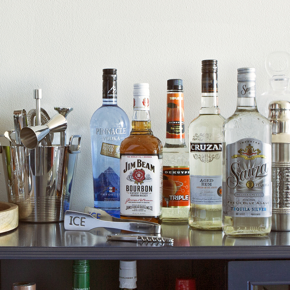 Limited in space or on dollars? Don't let that stop you from stocking your home bar! Image credit:  The Cocktail Project