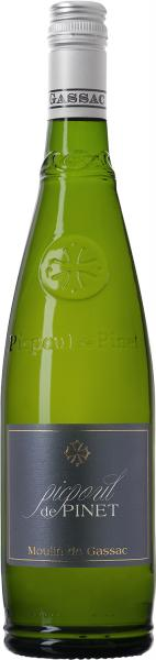 The traditional bottle for Picpoul de Pinet