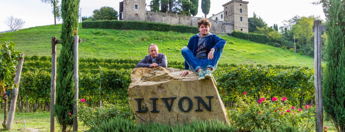 I love exploring the native grape varieties of Italy, and it is made even easier when you get the winemaker to come visit you. Image credit:  Livon