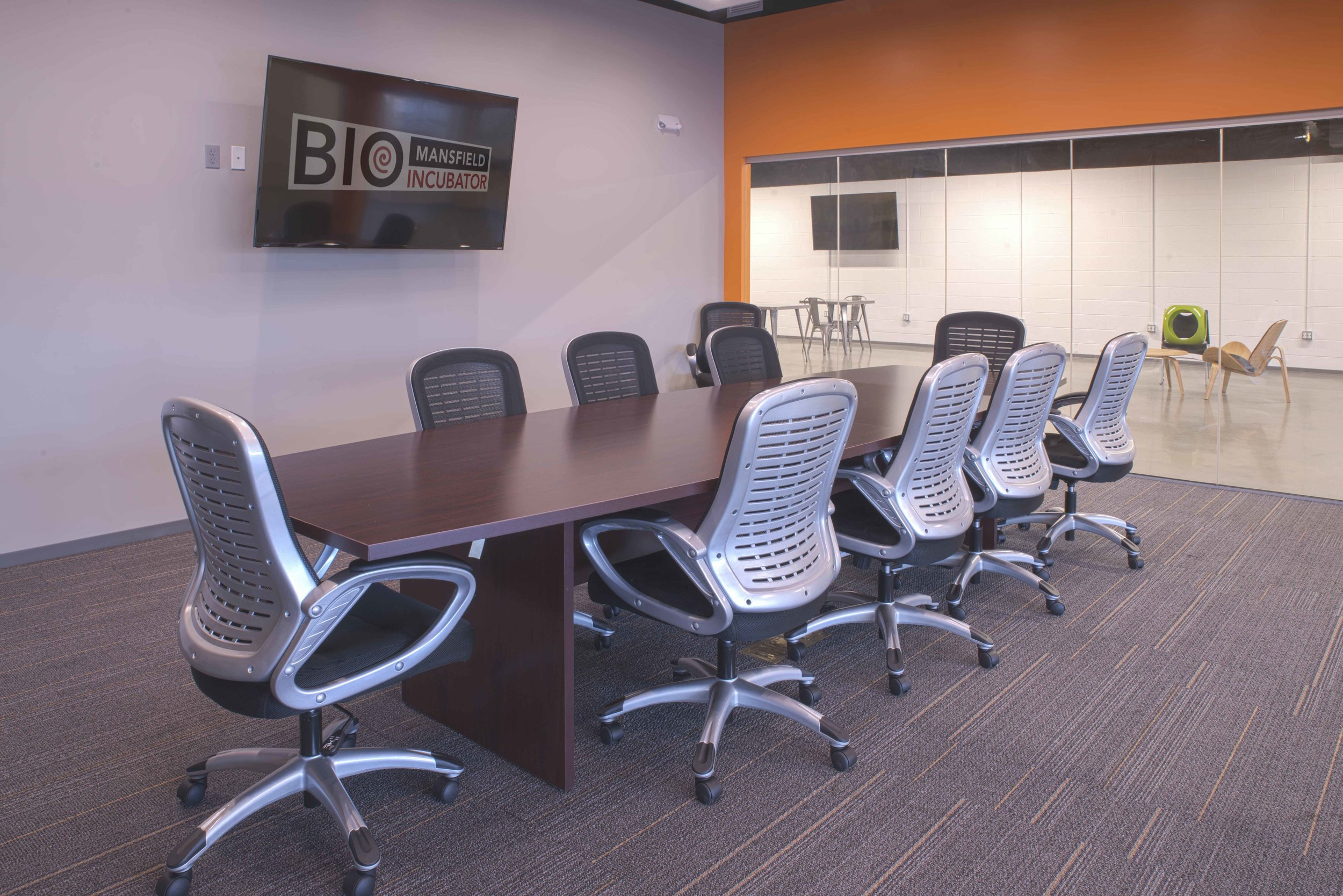 Conference room, interior.